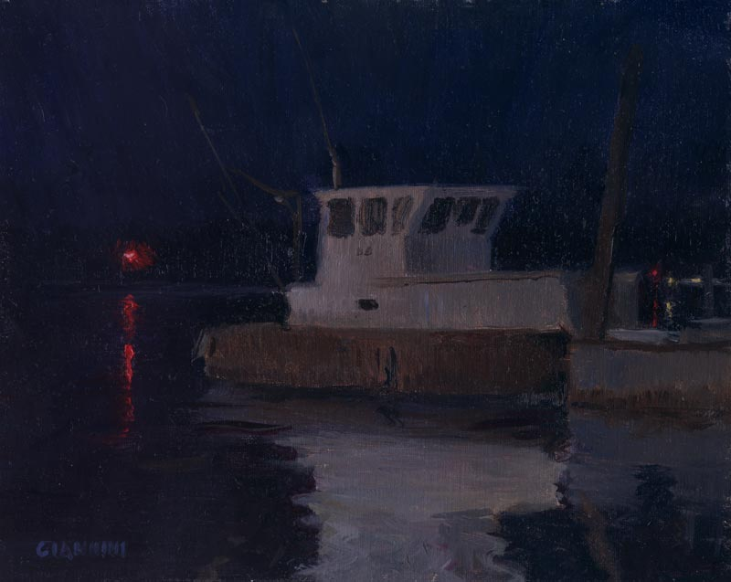 Nightlights, 8 x 10 in., oil on linen