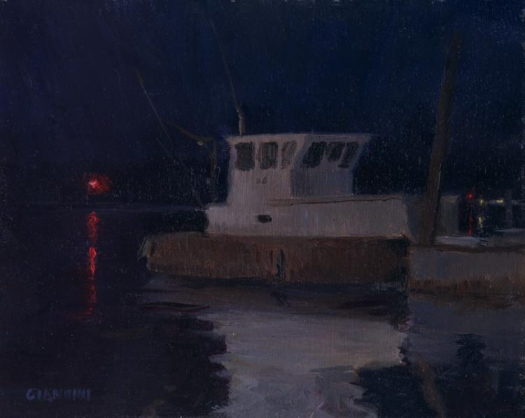 Nightlights, 8 x 10 in., oil on linen