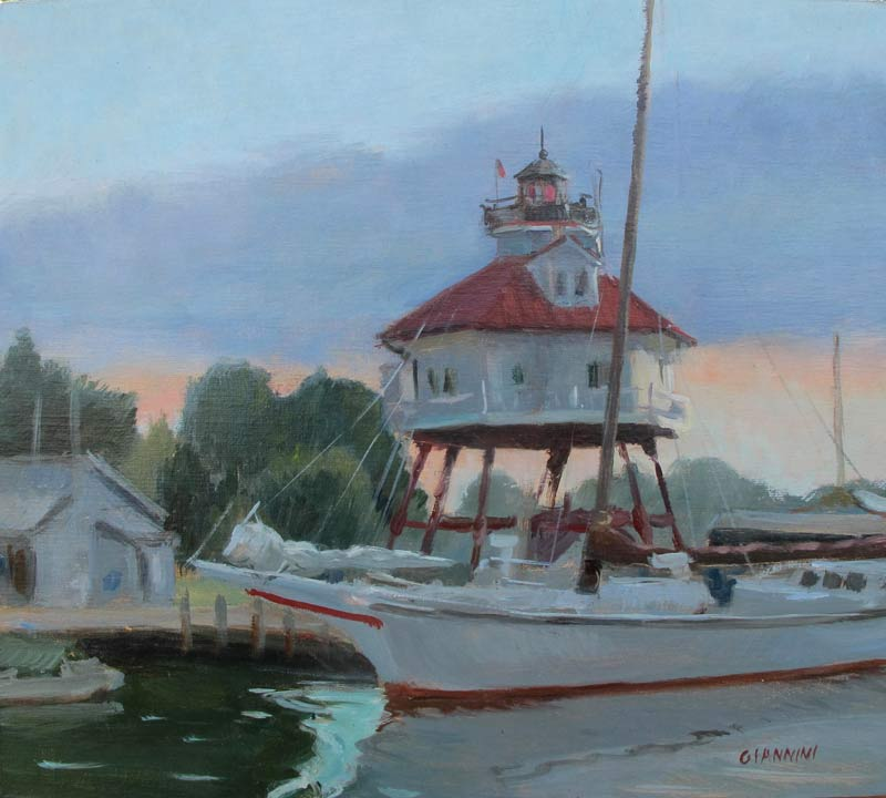 Calvert Marine Museum, 10x11 in. oil on linen