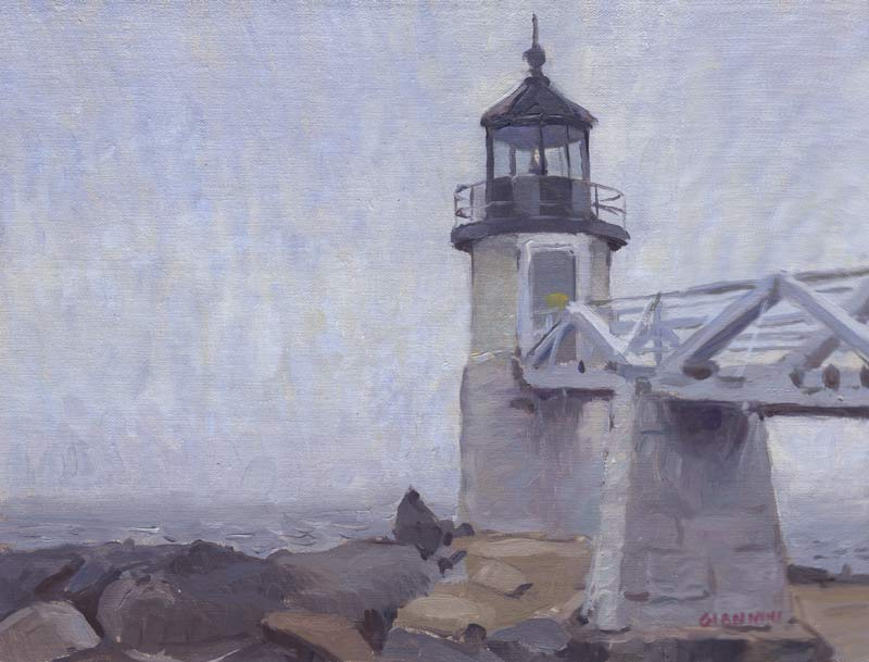 Marshall Point Light, Port Clyde, Maine, 9 x 12 in.
