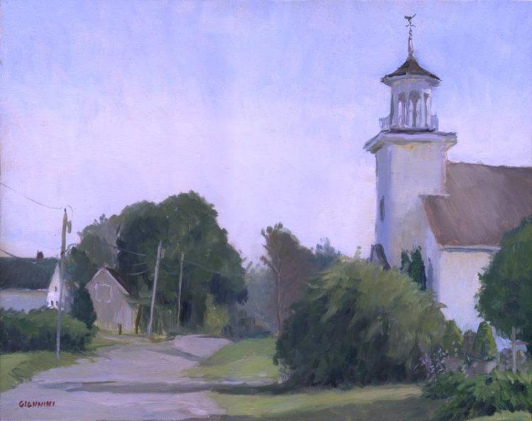 Methodist Church, Thomaston, Maine, 11x 14 in. oil on linen