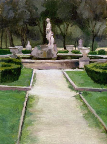 Museo Borghese Garden, 9 x 12 in.,oil