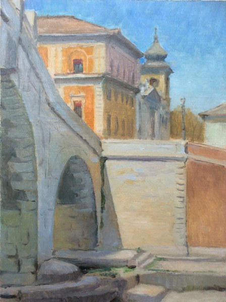 Ponte Cestio, Rome, p9 x 12 in. ,oil