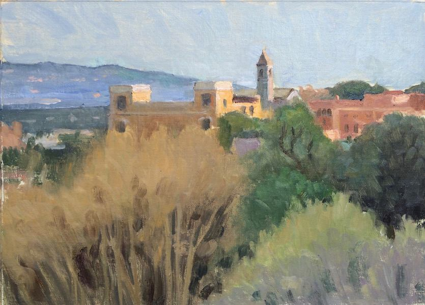 View FromGiancalo, Rome, 9 x 12 in.,oil