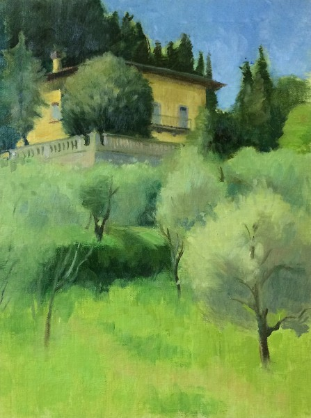 Caldine,Italy(Florence), 9 x 12 in.,oil