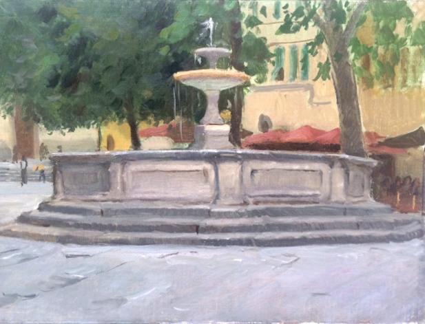 Santo Spirito, Florence, 9 x 12 in., oil