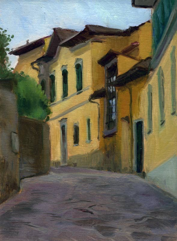 Old Studio, Florence, Italy, 12 x 9 in. , oil