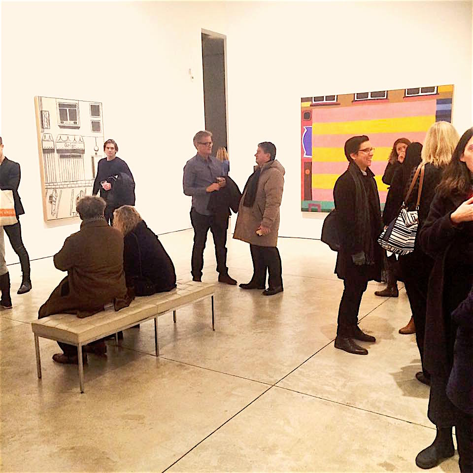 A night out at the Chelsea galleries. As a friend of mine pointed out, this was a particularly colorful group.