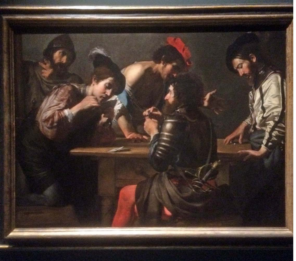 One of the paintings from the Valentin De Bolougne exihibit.