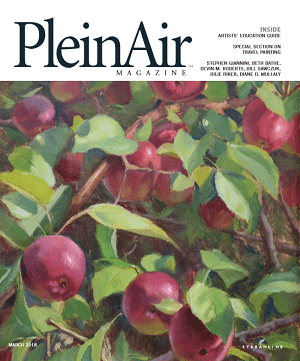 I'm the cover artist and have an article in the March 2018 issue of Plein Air magazine.
