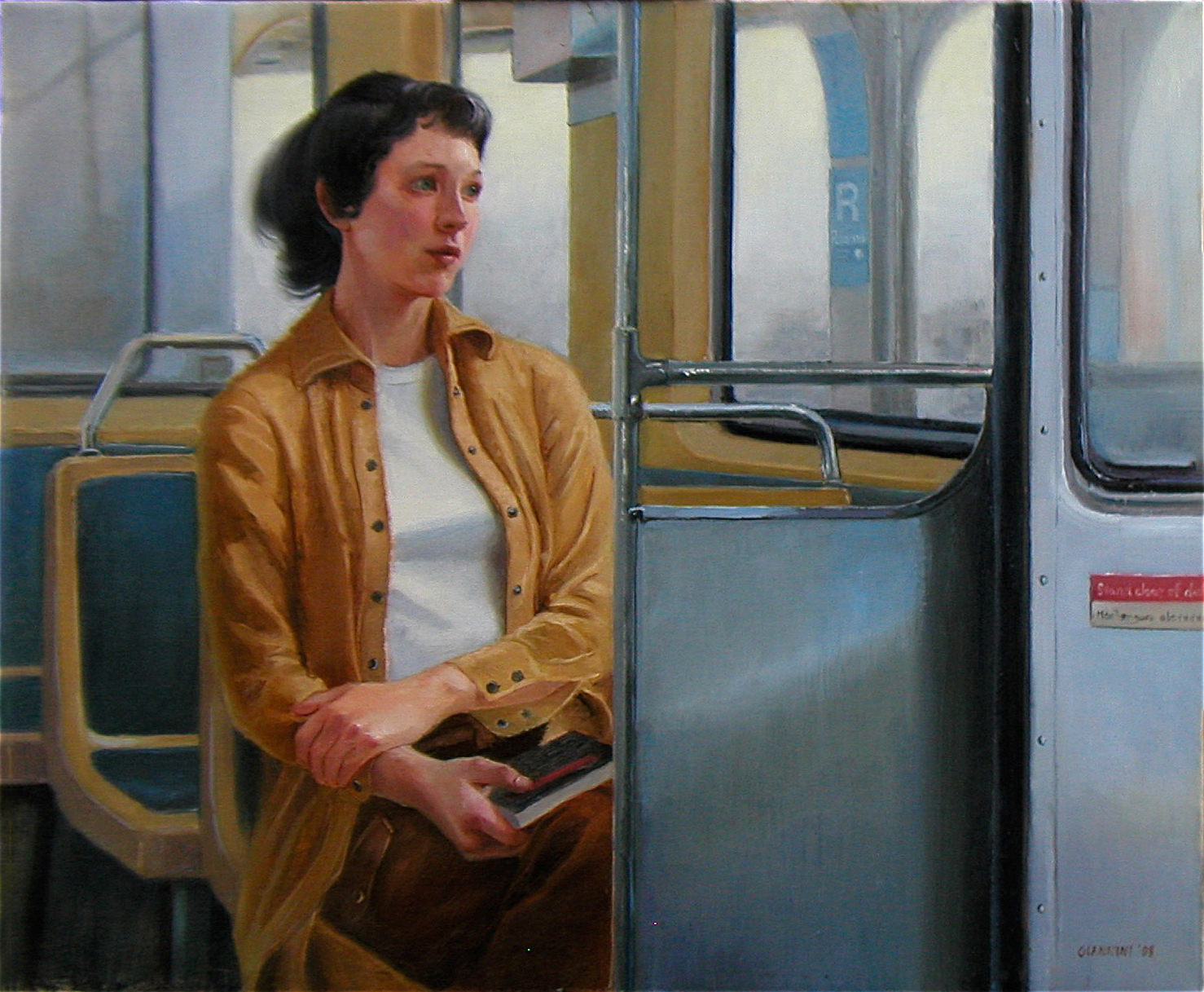 On the Chicago El, 20 x 24 in.JPG