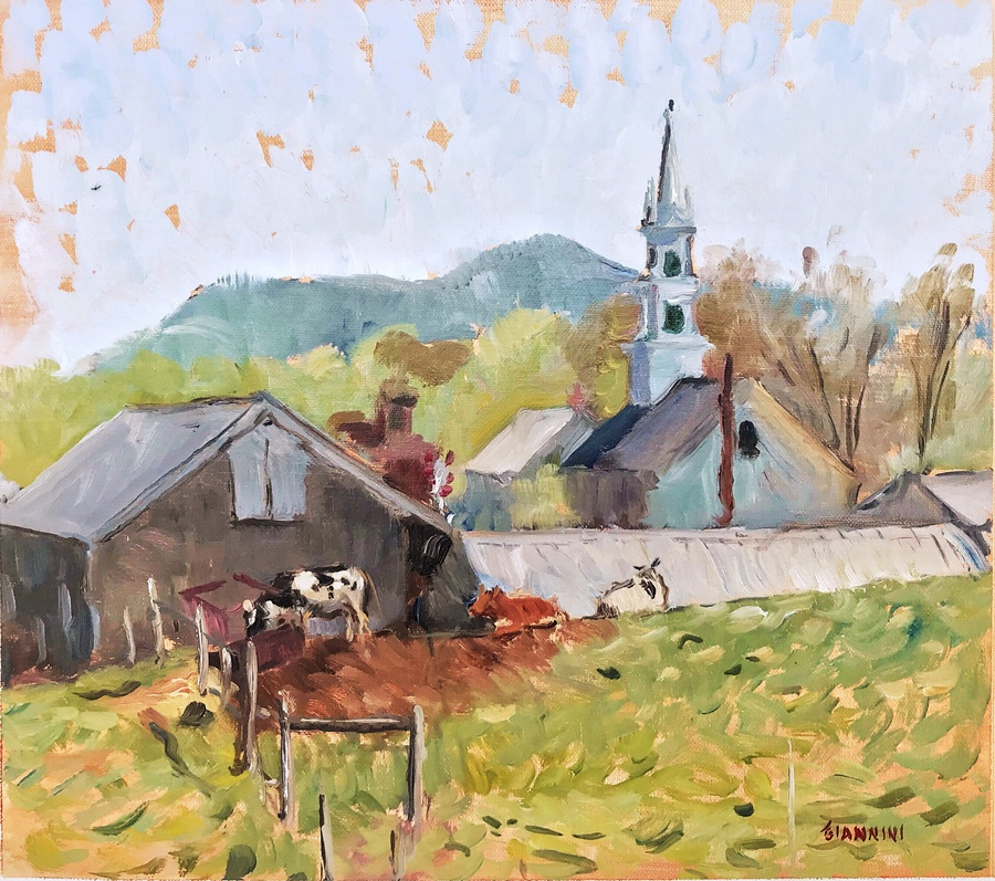 "Remick Country Doctor Museum and Farm, 10 x 11"" or 25 x 28 cm., oil."