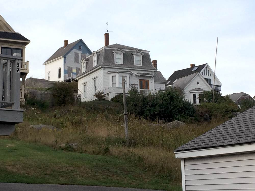 One of the ubiquitous mansard roofs in Stonington
