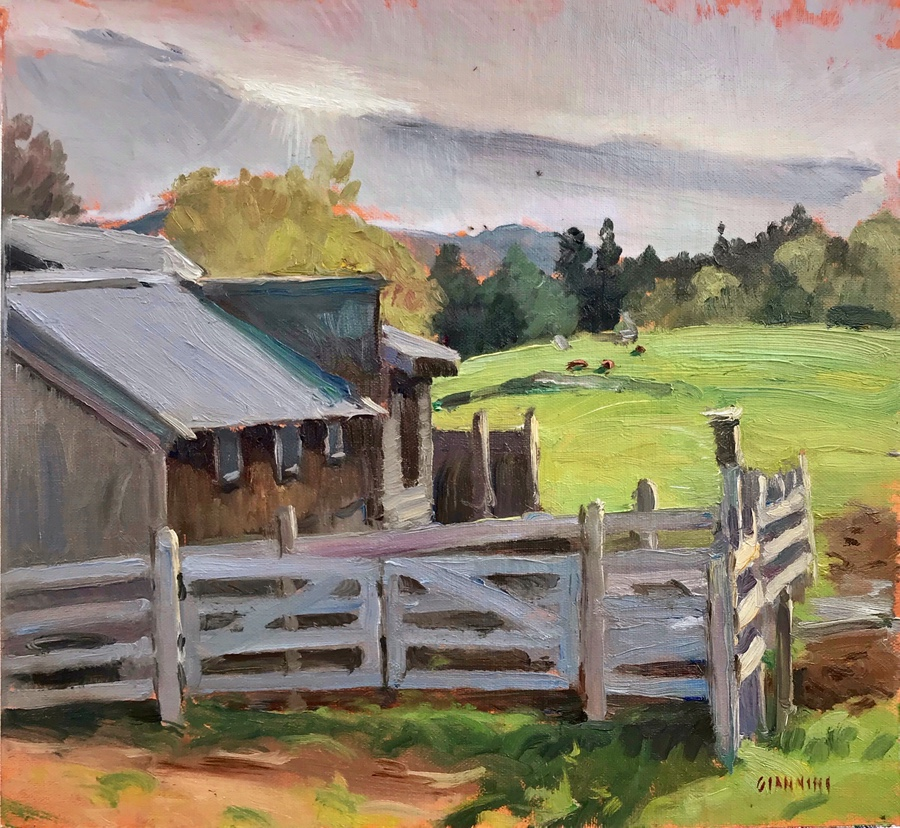 "Remick Country Doctor Museum and Farm #2, 10 x 11"" or 25 x 28 cm., oil"