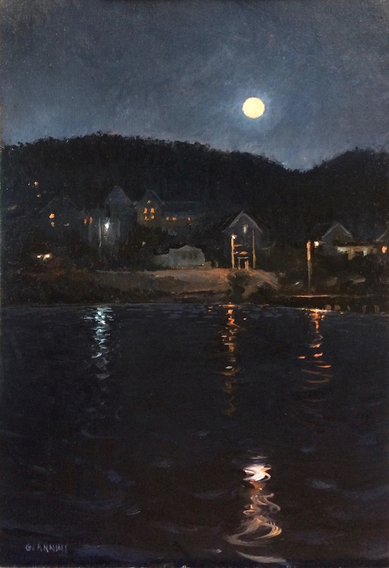 Boothbay Harbor Moonrise