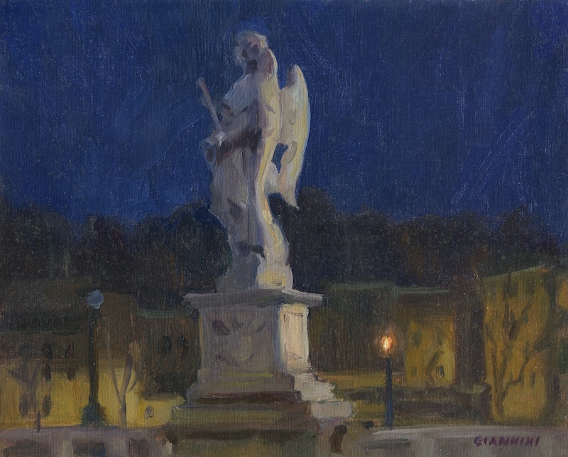 Ponte -Sant-Angelo-Nocturne-Stephan-Giannini