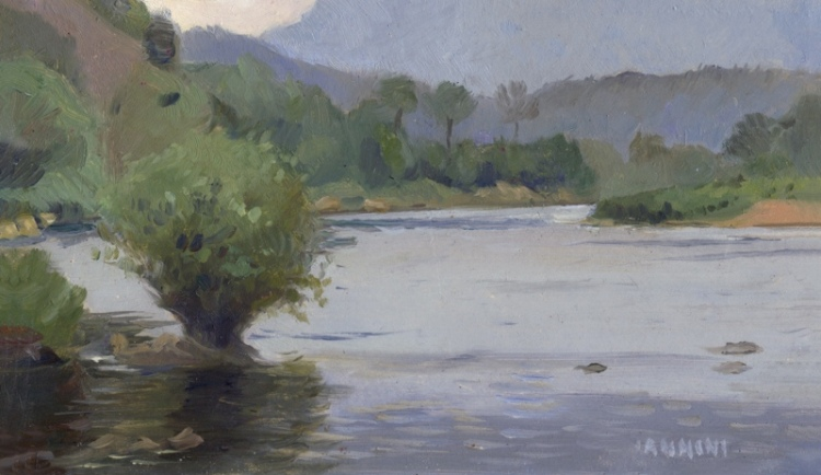 Nam Ou River Near Nong Khiaw, Laos 4 x 8 in., 10 x 20 cm.