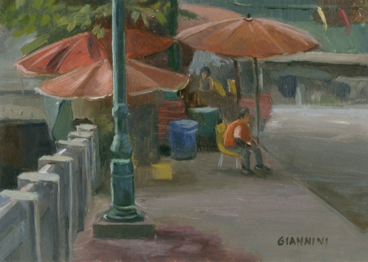"Thewet, Bangkok, 5 x 7"" or 13 x 18 cm., Oil"