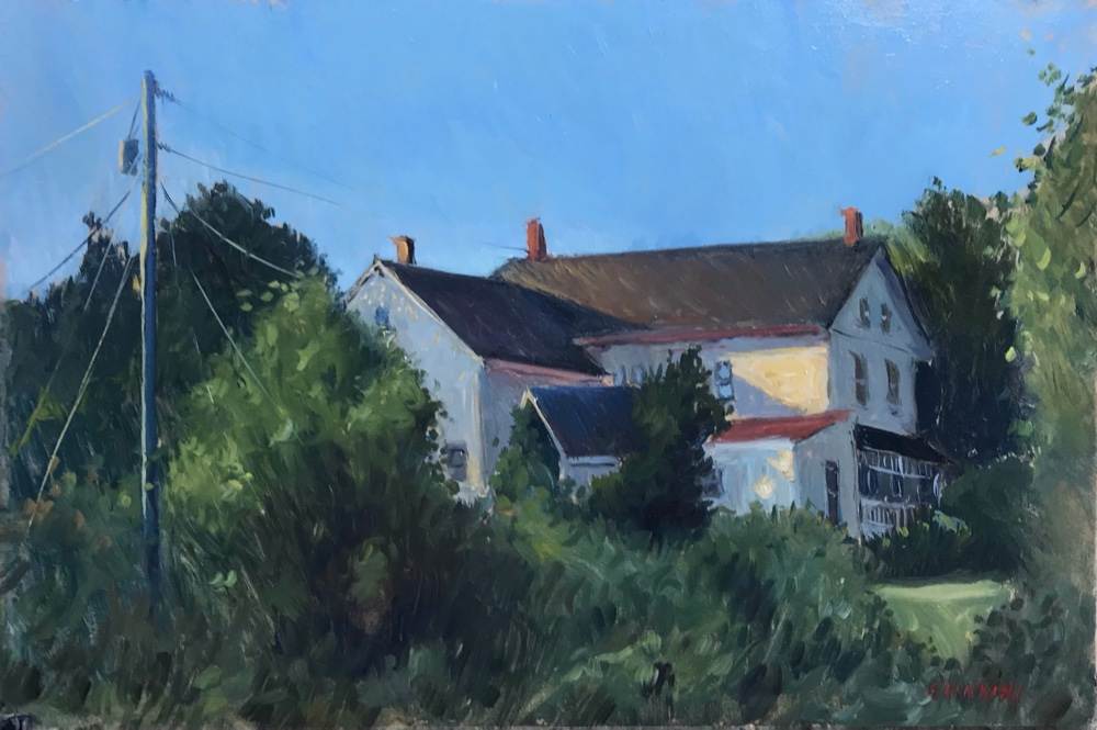 Union, Maine-House on the Commons, 8 x 12 in., oil