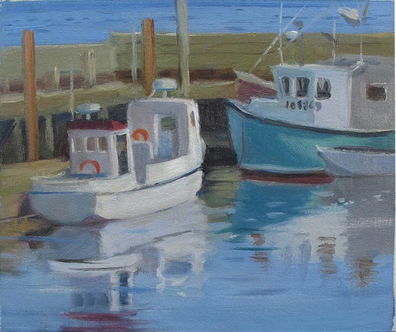 Campobello Wharf 8 x 10 in., oil on linen