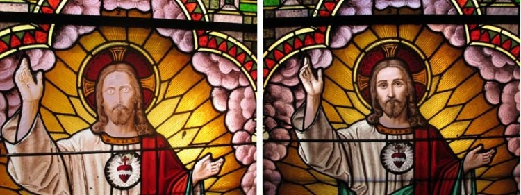 Stained Glass Conservation Progression