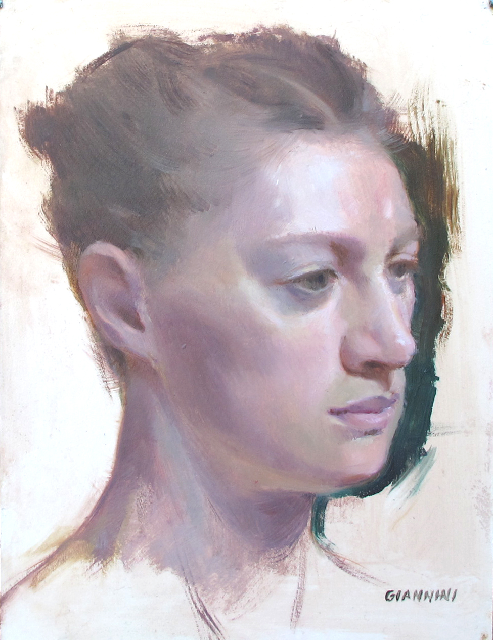 Sara, 9 by 12 in., Oil On Board