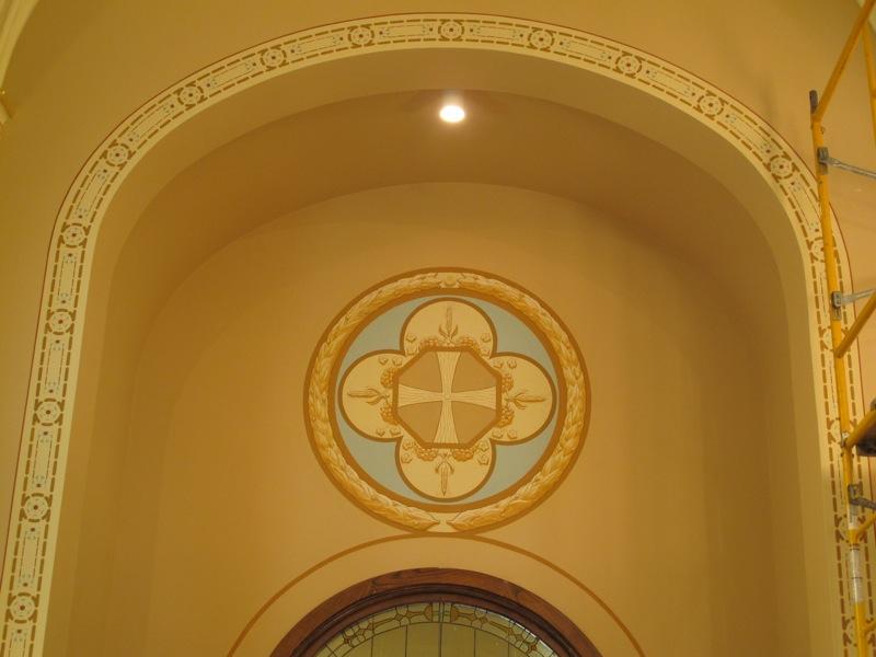 Side chapel mural.