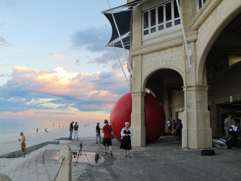 The RedBall Visits Perth's Cottesloe Beach