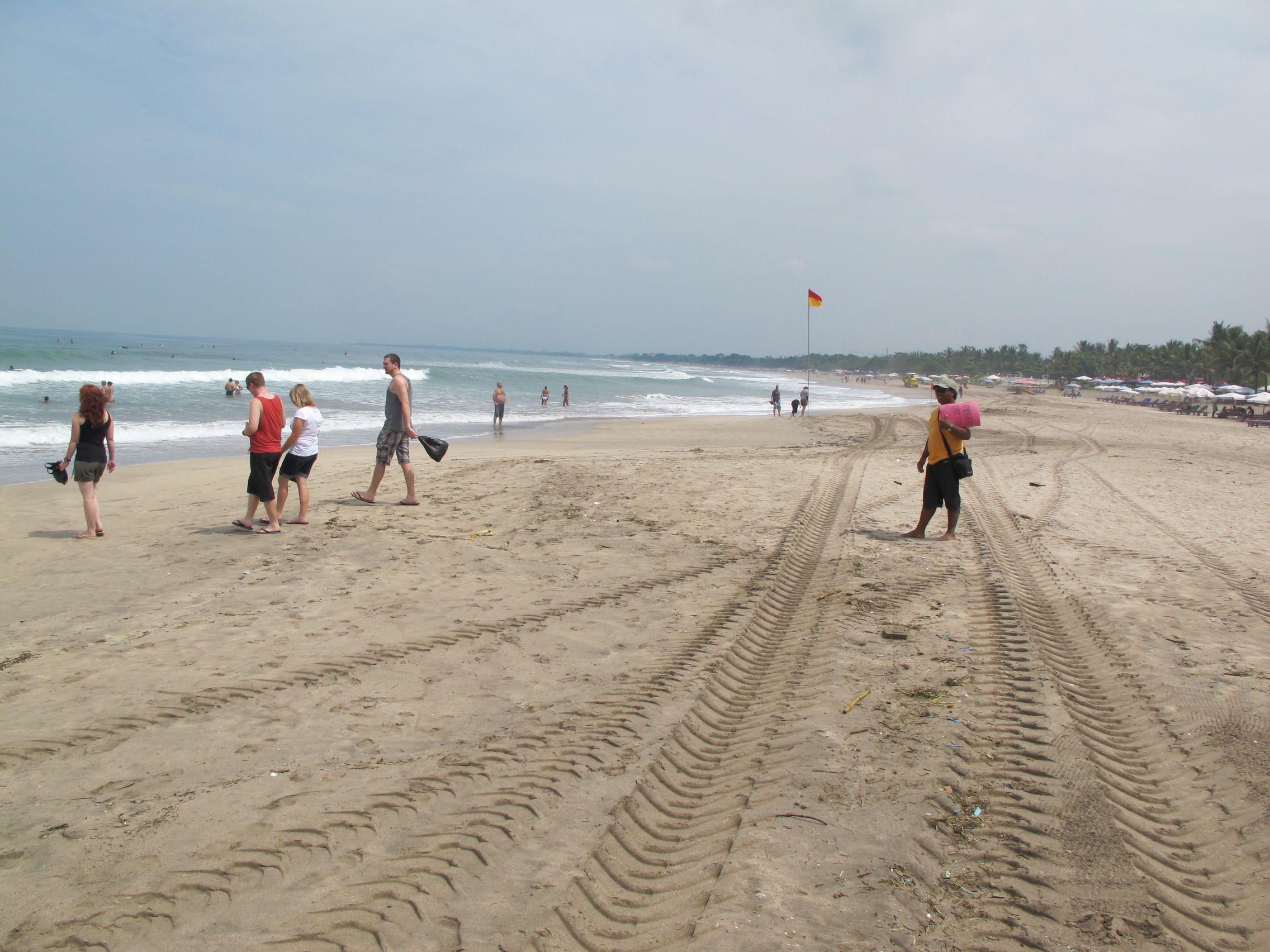 The beach in, Kuta, Bali
