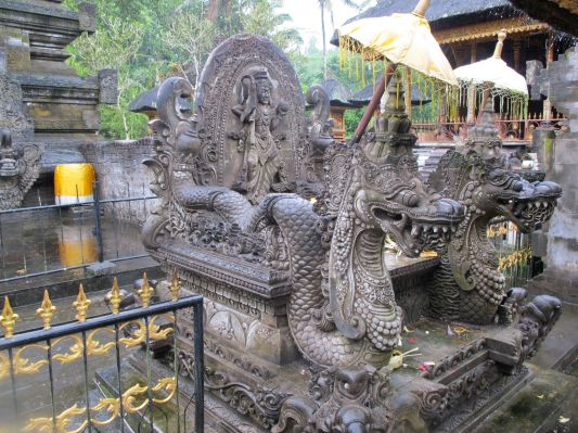 Sculpture at Tampakseering Temple, Bali