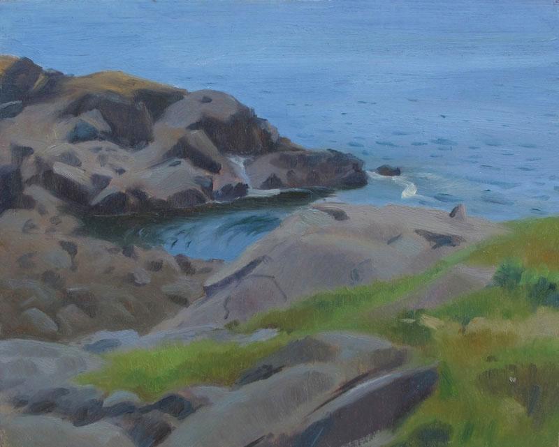 Lobster Cove, Campobello Island 7 x 10 in., oil on board