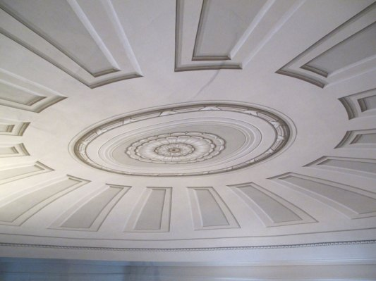 Detail of the Painted Trompe l'oiel Mural on the Ceiling