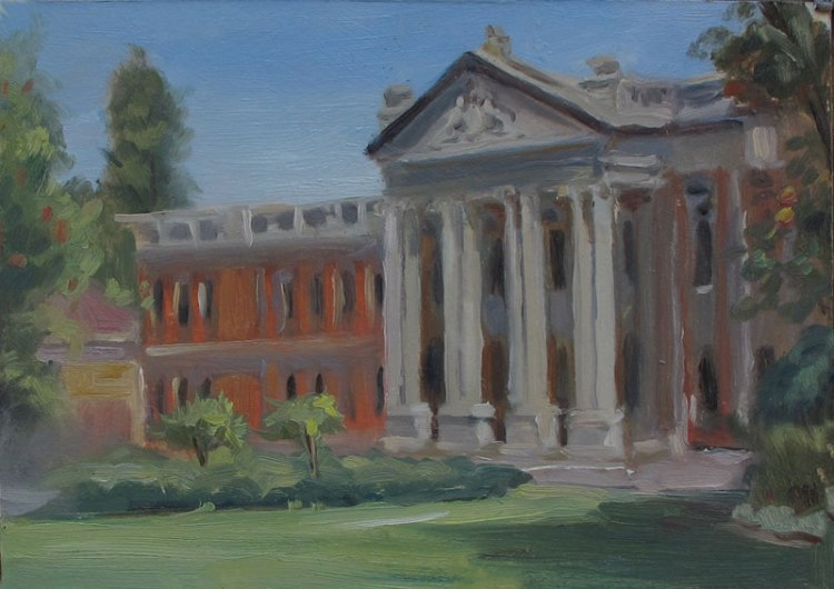 Perth Courthouse, 7 x 10 in., Oil on Museum Board