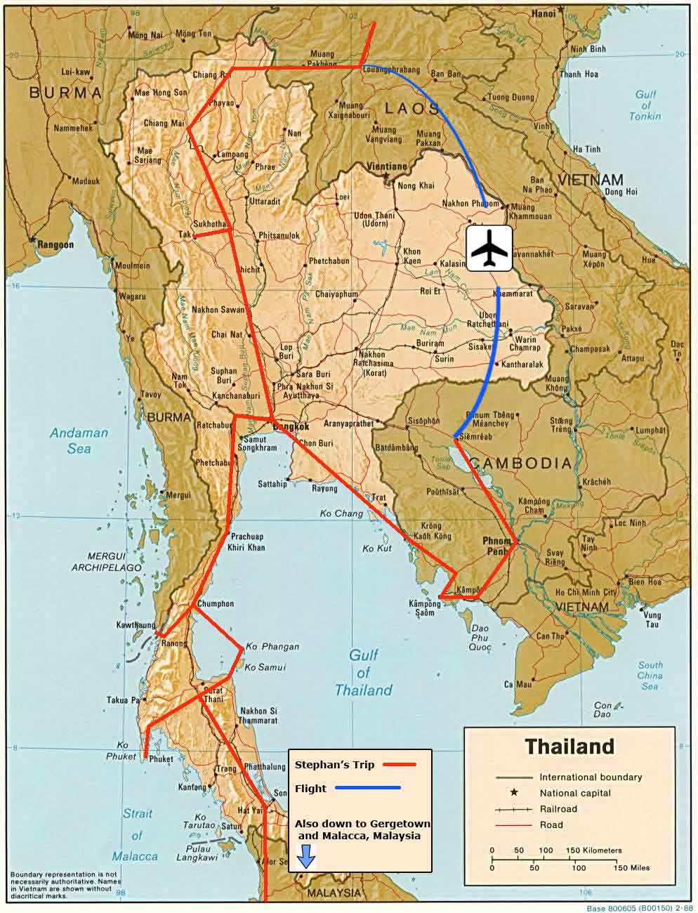 My Travel Route in Indochina